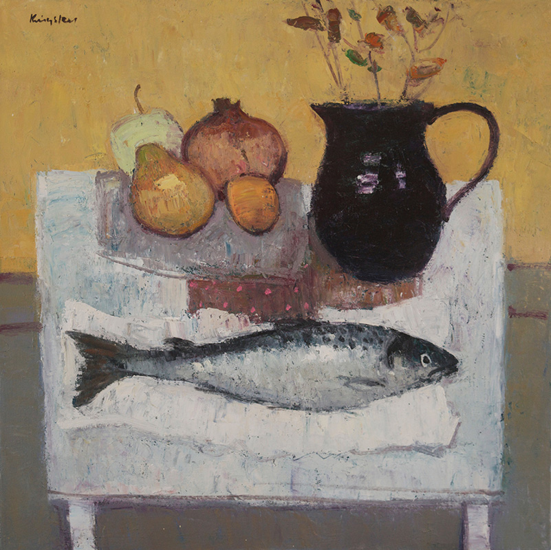 Autumn Fruit and Fish 20x20 2016
