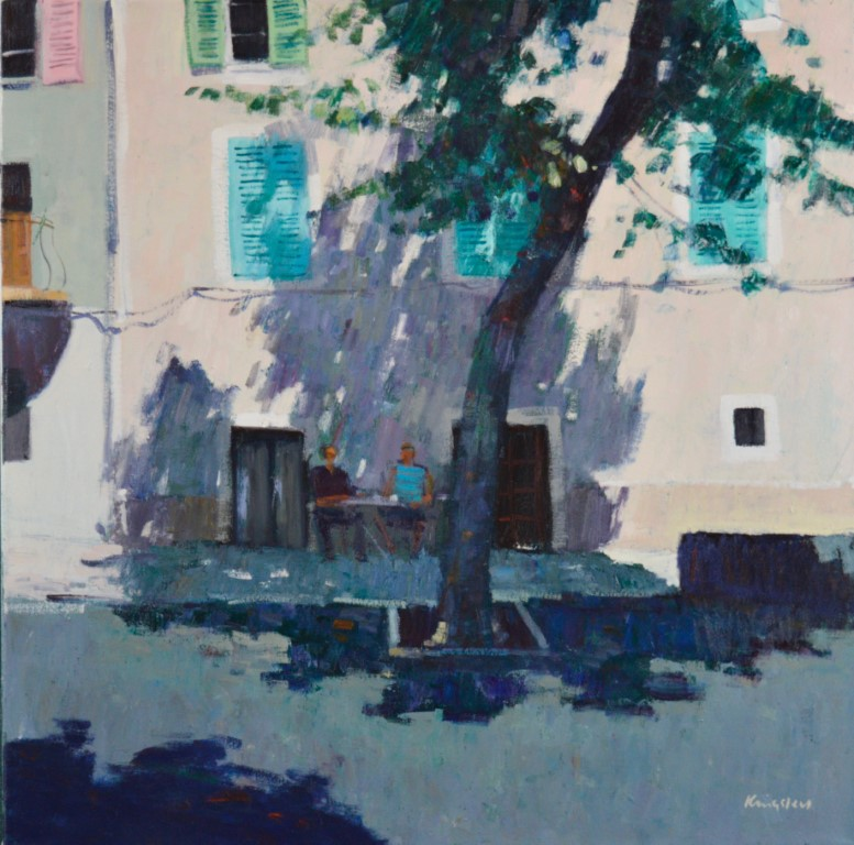 Afternoon Shadows, Bastia.     26x26