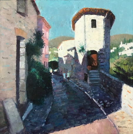 Narrow Street St Paul de vence 30x30