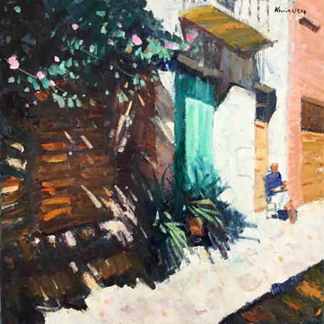 Strong shadows Collioure 16x16