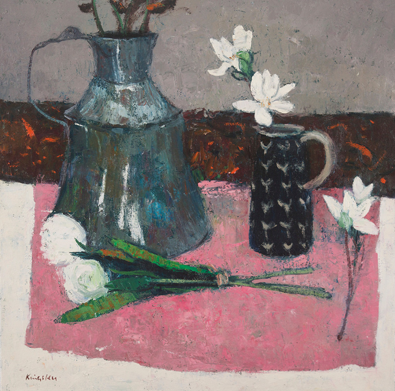 Flowers and Turkish Water Jug 20x202016