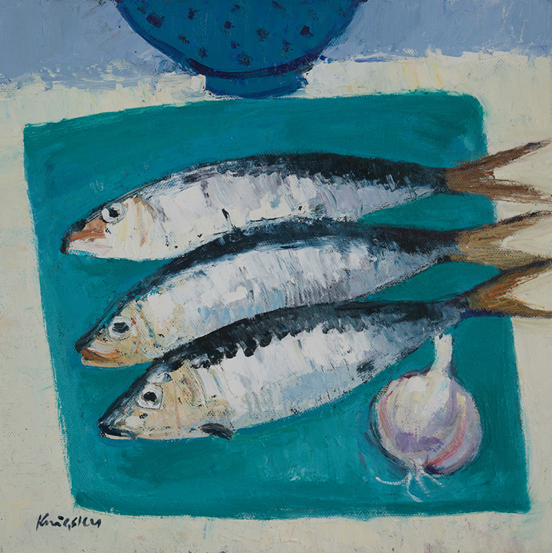 Sardines and Garlic 12x12 2016