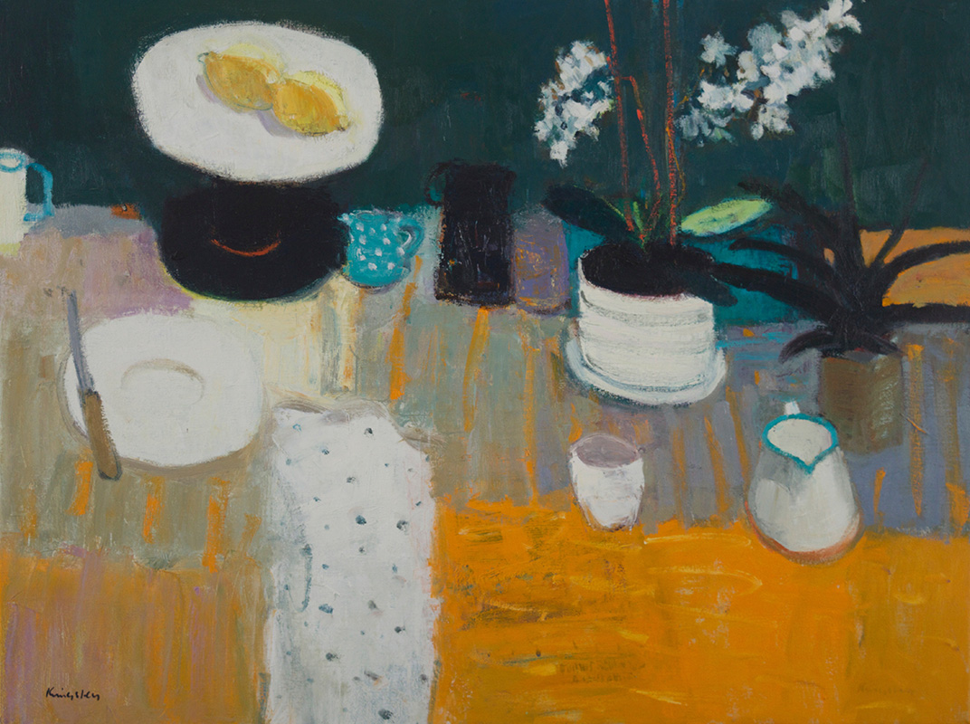 Still LIfe with Jugs and Plants 24x32 2016