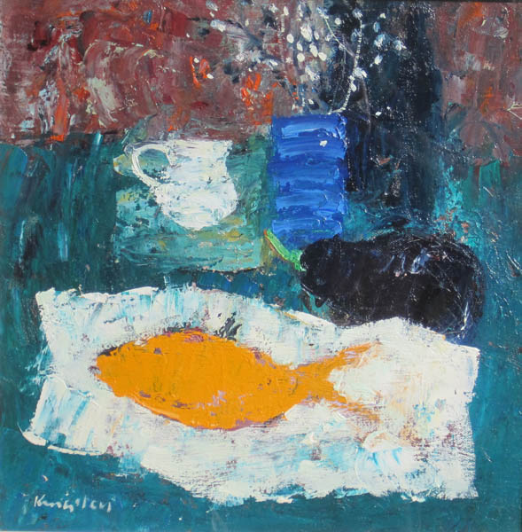 Still Life with Fish 12x12