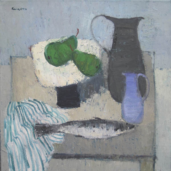 Still Life with Fish and Pears 22x22